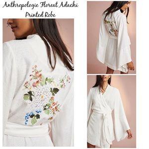 Anthropologie The Floreat Adachi Printed Robe M/L